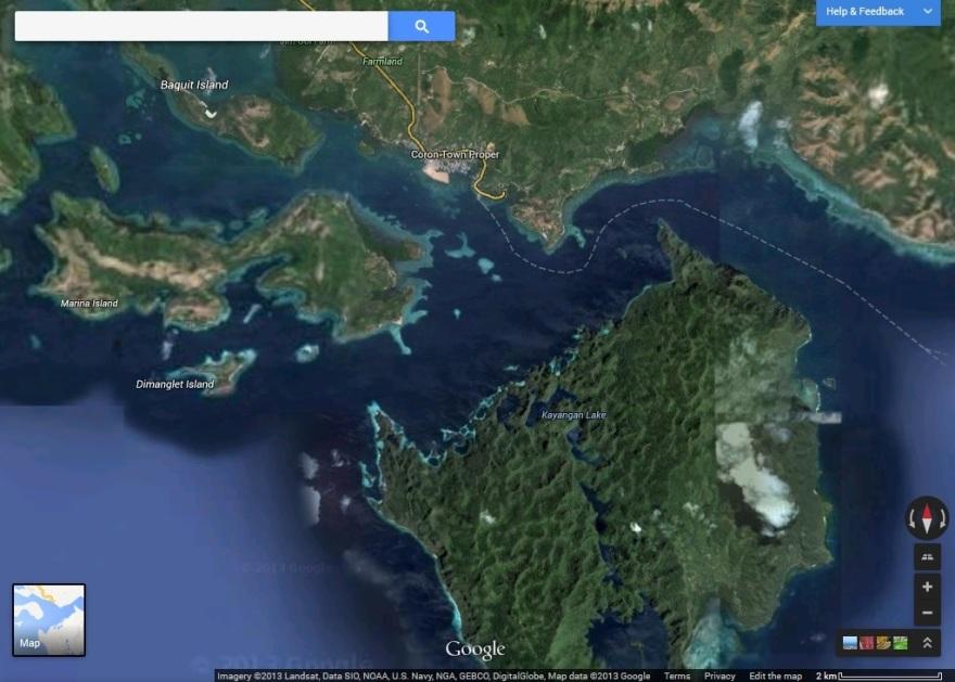 Coron Island Loop Map